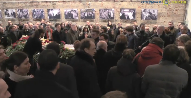 Boris Nemtsov funeral 3 March 2015