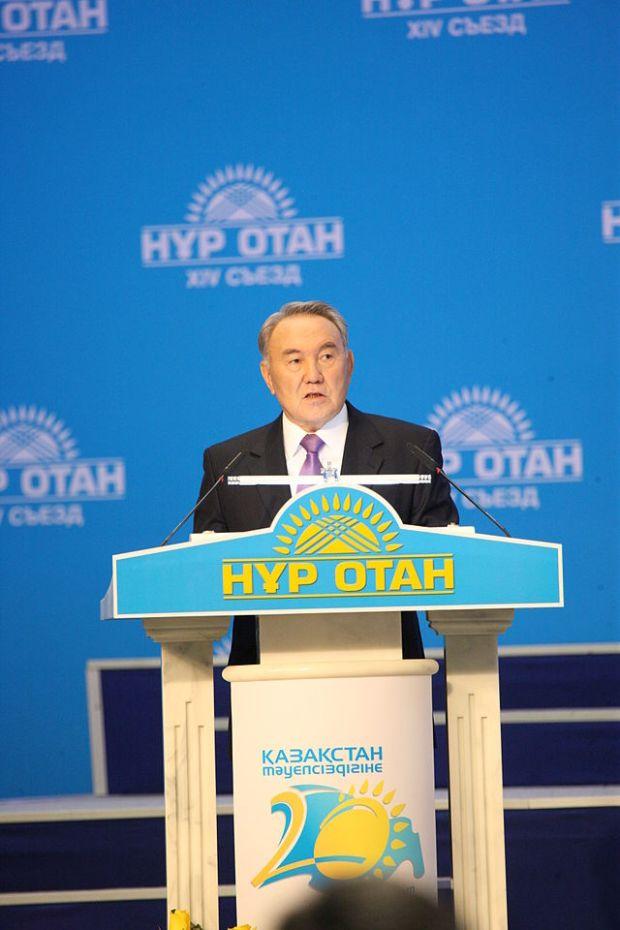 Nazarbayev_at_2011_Nur_Otan_Congress