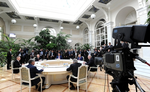 Meeting of CIS states, Moscow Kremlin, 8 May 2015.