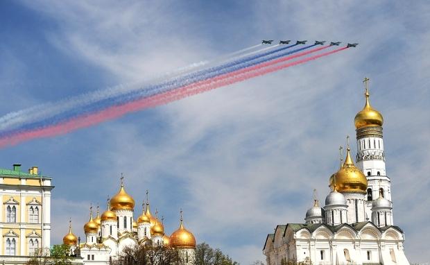 Victory parade 2015 air