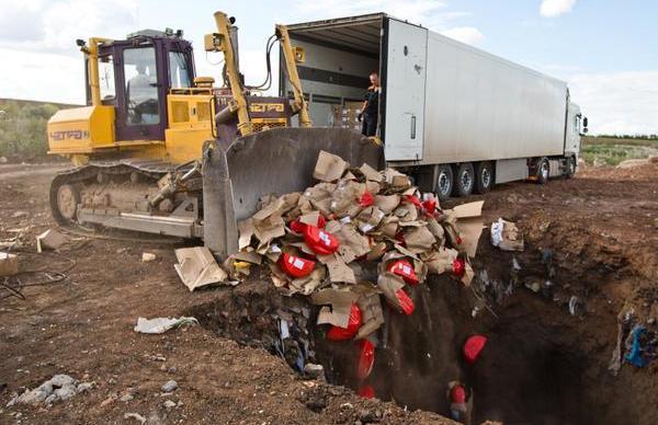 Food destruction Ugolok Tsinika