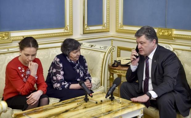 Poroshenko Savchenko mom sister b