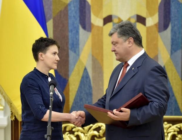 Savchenko freed meets Pres award